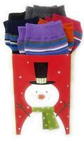 Womens Holiday Seasonal Sock Gift Set Bundle with 6 Pairs Christmas Snowflakes