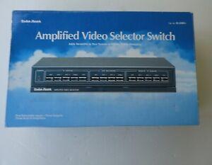 Vtg Mint Box New Radio Shack 15-2100 Amplified Video Selector Switch Box 5 Input