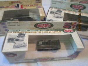 US Army Half Track Jeep Solido Famous Battles Collection 1:50 Scale Die cast LOT