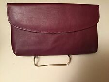 Vintage New Old Stock Burdines Burgundy Leather Wallet Card Case Organizer