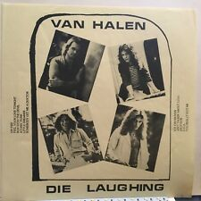VAN  HALEN LP DIE LAUGHING LIVE NM