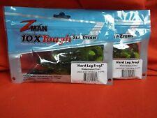 "Z-MAN HARD LEG FROGZ- WATERMELON / CHART - 17 - HARDLEGZ - 4"" (2 pk)"