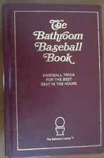 THE BATHROOM BASEBALL BOOK 1988 HC Trivia