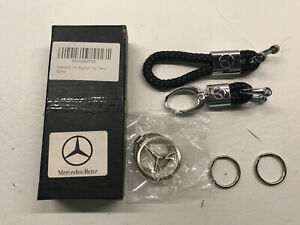 New Model Leather Key Chain Suit for Mercedes-Benz Family Man and Woman Keyring