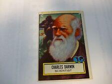 1952 Topps Look 'n See Charles Darwin Card # 124 Scientist