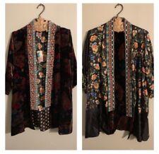 Johnny Was Fusai Reversible Velvet/Silk Kimono. Size Large. NWT. Retail- $400