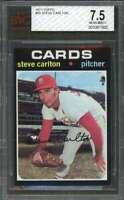1971 topps #55 STEVE CARLTON st louis cardinals BGS BVG 7.5