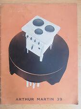 Catalogue cuisinière , Arthur Martin 1939  ( ref 1 )