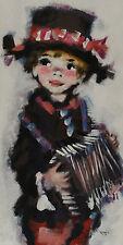 Holländischer Maler des 20. Jh signiert Köros - Kind mit Akkordeon