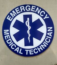 "EMT Star of Life Emergency Medical Technician Decal (4"")"