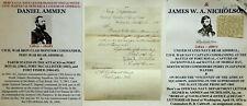 New listing Civil War Navy Ironclad Monitor Slave Trade Commander Capt Admiral Letter Signed