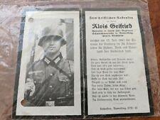German Death Card