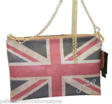 BORSA BUSTINA CLUTCH BAG  YNOT D384 STAMPA GB  CON TRACOLLA LUNGA