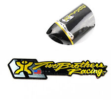 1PC Two Brother Aluminium Heat Resistant Motorcycle Exhaust Pipe Racing Sticker