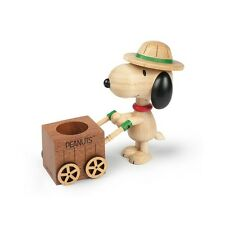 Peanuts Gang Snoopy Beagle Scout Wood Pen Holder - Peanuts Gifts Toys Collection