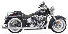 BASSANI TRUE DUAL FISHTAIL EXHAUST HARLEY SOFTAIL HERITAGE FAT BOY SLIM DELUXE