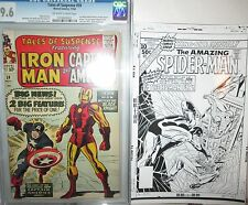 Amazing Spider-Man COVER PROOF ART 1976 B&W Annual 10 Silverprint w)PEDIGREE COA
