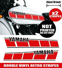 Yamaha Fuel Tank Stickers Decals Vintage Gas Tank Stripe YZ50 YZ50G  XT500T T500