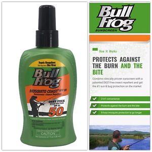 Bull Frog MOSQUITO COAST Sunscreen & Insect Repellent SPF 50- 4.7oz Non-Aerosol