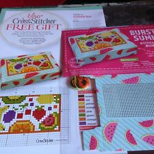 CROSS STITCH COVER KIT FRUIT SUMMER BOX KIT MAGAZINE COVER KIT