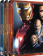 Iron Man 1,2,3 4K : Steelbooks (Zavvi) Blu-Ray