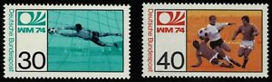 Germany 1974 Football World Cup In West Germany - Set Of Twp Stamps - MUH
