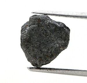 Big Rough Uncut Diamond 4.28TCW Black Sparkling Natural Irregular Shape for Ring