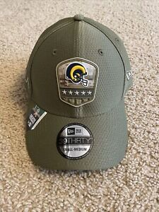 New Era 39Thirty Los Angeles Rams Salute To Service Hat NWT S/M