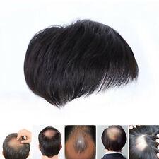 Homme noir cheveux Topper Toupee Clip postiche haut court perruque naturelle WHZ