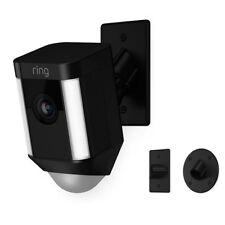 Ring Spotlight Cam Mount Outdoor Smart Surveillance Camera, Black - 8SH5P7-WEN0