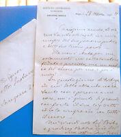 1935 LETTERA AUTOGRAFA DEL FERRARESE IVO NOVI DA ISTITUTO ANTIRABBICO DI BOLOGNA