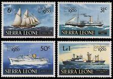 SHIPS Transport Boats Sierra Leone # 608 - 611 Mint NH Complete 1980 Set