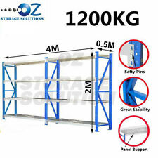 Garage Shelving Longspan Shelving Rack Warehouse Storage Shelves 2M x 4M x 0.5M