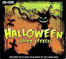 HALLOWEEN SOUND EFFECTS CD 60 FX + BONUS HORROR CLASSIC NIGHT OF LIVING DEAD DVD