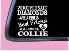 "Collie Diamonds Tp 450 vinyl 6"" Decal Sticker dog breed tshirt rough smooth coat"