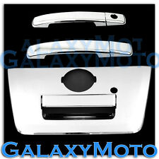 Chrome 2 Door Handle W/O PSG Keyh+FULL Tailgate Cover for 04-12 Nissan Frontier