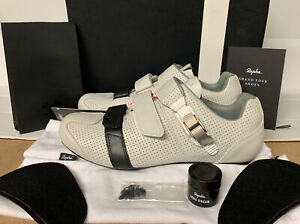 Rapha GT Grand Tour Shoes White Black Leather Size 5.75 UK 39.5 EU New Boxed