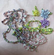 Vintage French Rococo Ombre 4 Colors Various Length Rosette Sewing Trim 100 In