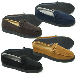 Mens Slippers Mens Moccasin Slippers Mens Moccasins Full Back Lined Slippers
