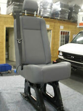 Ford Transit OEM Passenger Seats; Gray Vinyl; Single Pass; w/Hardware; Universal