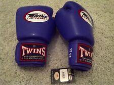 GENUINE TWINS SPECIAL 12 oz BLUE MMA / MUAY THAI VELCRO BOXING GLOVES BGVL-3