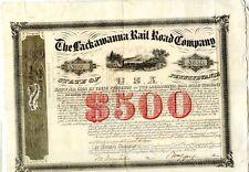 1856  Penn.  Lackawanna Rail Road Company    $500 bond.