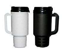 2 Air Insulated Coffee Cup Travel Mugs 18 Ounces 1 ea Black & Granite Mfg USA