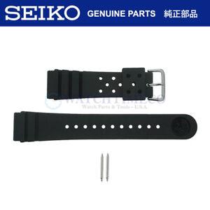 Genuine Seiko 4F24ZZ 22mm Divers Watch Strap + Pins for SKX173 SKX007 SKX009