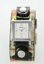 Relic Watch Women Hologram Leather Stainless Silver Water Resistant White Quartz