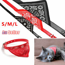 Adjustable Dog Pet Neckerchief Neck Scarf Cat L leather Collar M S Bandana with
