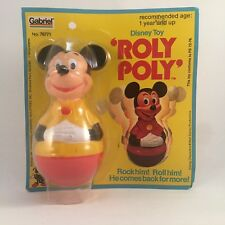 Disney Mickey Mouse Figurine Toy Roly Poly by Gabriel 1975 Vintage