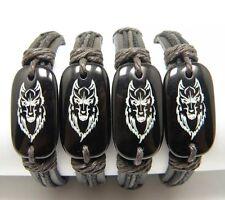 Wolf Leather Surfer Bracelet