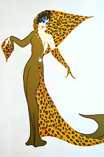 Erte 1972 Ltd. Edition - PANTHER COSTUME - London Symphony 1938 - Print Matted