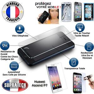 Protection d'Ecran en Verre Trempé Contre les Chocs pour Huawei Ascend P7